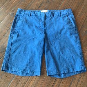 J. Crew size 6 light blue Bermuda shorts
